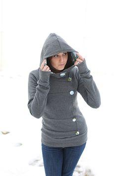 DIY Sweatshirt--love the look of this.
