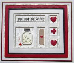 PartiCraft (Participate In Craft): Feel Better Soon Diy Cards, Your Cards, Feel Better Cards, Scrapbook Cards, Scrapbooking, Spellbinders Cards, Paper Smooches, Fancy Fold Cards, Get Well Soon