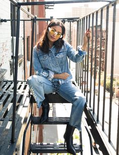 Inside DJ Amrit's Closet and New York City Home: Click through the gallery below to see DJ Amrit's closet as well as learn her go-to New York restaurants and her thoughts on all her DMs. -- Jean jacket and bootcut jeans | coveteur.com