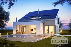 Low energy houses, passive houses and active homes are houses, which are trying to utilize utmost the solar energy. Passive House, Aktiv, Home Fashion, Home And Family, Sweet Home, New Homes, Real Estate, Construction, Mansions