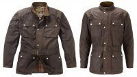 Brown Continental wax cotton motorcycle jacket