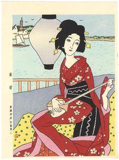by Takehisa Yumeji / 蘭燈 竹久夢二