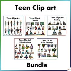 This bundle include 5 of our teen clip arts.A. Teen Back To School Clip ArtMake your back to school clip resources come to life with our Teen Clip art.Excellent to have for high school resources especially those who create resources and a must have for classroom displays.This resource includes:12 Te... Reading Resources, Reading Strategies, School Resources, Classroom Resources, Teacher Resources, Teaching Ideas, Classroom Ideas, Classroom Setting, Classroom Displays