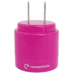 IESSENTIALS IE-ACP2U-PK 2.1-Amp Dual-USB Home Charger (Pink)