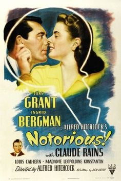Notorious (1946) movie #poster, #tshirt, #mousepad, #movieposters2