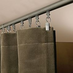Levelor Kirsch Universal Track for replacing closet doors or vertical blinds with curtains