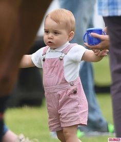 Prince George Takes His First Abdorable Public Steps at Prince William's Polo Outing