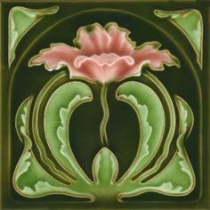Golem Kunst- und Baukeramik GmbH | Art Nouveau tiles decorated | Art Nouveau tiles5 F72