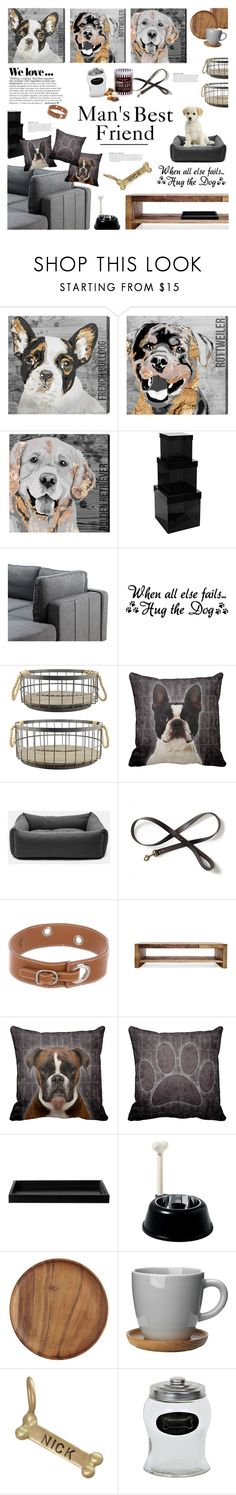 """""""For The Love of Dogs"""" by happilyjynxed ❤ liked on Polyvore featuring interior, interiors, interior design, home, home decor, interior decorating, Oliver Gal Artist Co., Pols Potten, Stonebriar Collection and KAROLINA"""