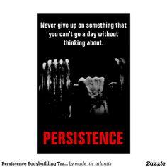 Persistence Bodybuilding Training Work Hard