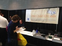 New York Life brought their Child ID kits to the show.