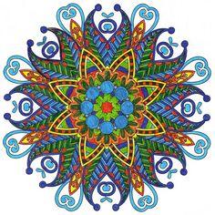 ❤⊰❁⊱ Mandala⊰❁⊱ Blue Monday [blog] #adultcoloring #mandalas #mondaymandala…