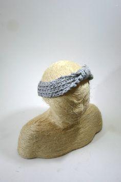 Crochet Knotted Headband Wool Earwarmer for Women by GingerKnitz, $20.00...giveaway entry...