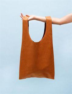 Baggu Medium Leather Bag- Multi