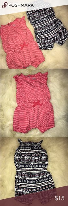 Carters Rompers (newborn/girls) Newborn Carters Rompers.. never worn. Brand new, no tags. Carter's One Pieces Bodysuits