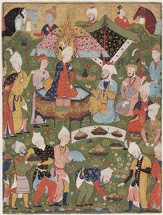 le cantique des oiseaux de farid oddinattar illustre par la peinture en islam dorient