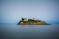 Chrome Island Lighthouse - established in 1891 to assist marine traffic in the region of Deep Bay, British Columbia, Denman Island, and Hornby Island. One of the few manned stations left on the British Columbia Coast.