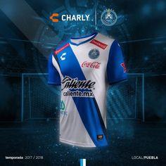 1b14711a526f9 Uniformes Charly Futbol Club Puebla 2017-18 - Todo Sobre Camisetas