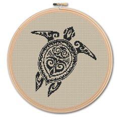 Turtle,  Counted Cross stitch , Pattern PDF, Instant download. Cross stitch pattern . Includes easy beginner instructions.