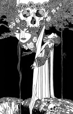 Illustration forHamletby John Austen (1922) -Looks like the same artist who did the cover of Gabor Szabo's dreams album