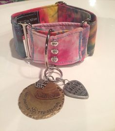 Tie Dye Hippie Martingale Collar by isabellabluedesigns on Etsy, $20.00