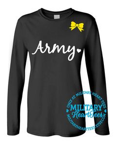 Custom Army Long Sleeve Military Shirt for by MilitaryHeartTees, $27.00
