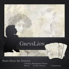 5 DIGITAL BACKGROUND PAPERS Paris Sings 12x12 blog by greyslion, $0.99