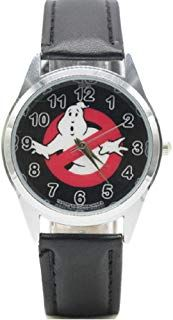 New Horizons Production Ghostbusters No Ghost Logo Black Genuine Leather Band Wrist Watch