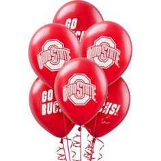 You're ready for any Buckeye event with Ohio State Buckeyes Balloons. Each Ohio State balloon features the school colors and logo. Package contains 10 balloons. Ohio State Buckeyes, Ohio State Vs Michigan, Ohio State Wreath, Ohio State Baby, Nike Ohio State, Buckeyes Football, Ohio State Football, Ohio State University, Michigan Game
