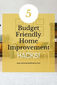 5 Budget-Friendly Home Improvement Hacks - Bored during the lockdown? Want to update the home but on a budget? Have a look at our tips, tricks and hacks for updating your home quickly.   #home #decor #homehacks #budgetdiy #diy House Proud, Kitchen Vinyl, Thing 1, Peeling Paint, How To Make Tea, Spring Home, Diy On A Budget, Money Tips, Get The Look
