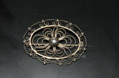 Vintage genuine silver filigran brooch Made in by Piippana