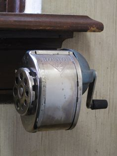 Old pencil sharpener at Bethany College. Photo by Frank Ballew