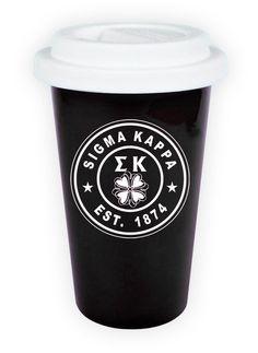 Sigma Kappa Ceramic Circle Latte Mug from GreekGear.com
