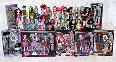 DOT DEAD GOREOUS DRACULAURA, ABBEY BOMINABLE, GHOULIA YELPS  DOT DEAD GORGEOUS SPECTRA VONDERGEIST  GHOULS RULE FRANKIE STEIN  SWEET 16 CUPID  DEUCE GORGON  SKULL SHORES DRACULAURA  ROBECCA AND TO CREATE A MONSTER ADD ON PACKS