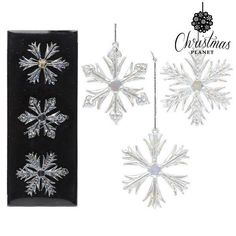 Decorative Figure Christmas Planet 3499 (3 uds) Crystal