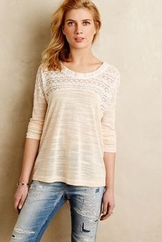 Hazel Edda Lace Top #anthrofave