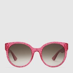 6677ff7160a69 Gucci Lunettes de soleil rondes en acétate Round Frame Sunglasses