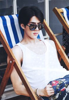 #EXO #sehun || THOSE SHADES OMG