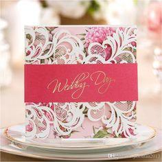 Green / Pink / Purple Laser Cut Wedding Invitation Cards 2017 Flower Bridal Cards With Free Envelopes Casamento Personalised Wedding Cards Personalised Wedding Invitations From Jasonlau2013, $1.01| Dhgate.Com