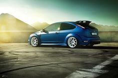 Ford Focus RS MK2 matte blue #ford #FocusRS #matte #blue #beautifulcolor #sun…