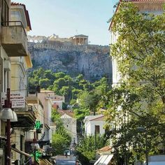 Greece   Morning stroll through the most magical alleys of #Athens! With the glorious #Parthenon on sight!  #Plaka… #traveltips #travel