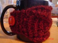 Knitting Scientist: Cabled Coffee Cozy