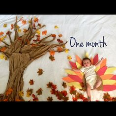 This lil' Turkey is one month old tomorrow.  #fallbaby #babylistbaby