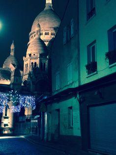 Un hiver à Montmartre, Sacré coeur la nuit |PARIS