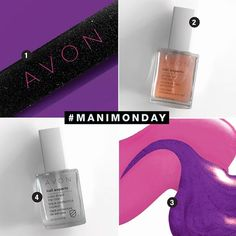 It's ‪#‎ManiMonday‬!  Mastering an at-home manicure is as easy as 1,2,3...4! Start by filing your nails, then use Nail Experts Gel Strength Base Coat, apply a bright colored nail polish and finish with Nail Experts Color Shield Top Coat.  Get 'em all here and pamper yourself! www.youravon.com/yourphenomenalface