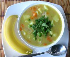 Sopa de Avena or Oat's Soup via colombian recipes Kitchen Recipes, Soup Recipes, Vegan Recipes, Cooking Recipes, Recipies, My Colombian Recipes, Colombian Cuisine, My Favorite Food, Favorite Recipes