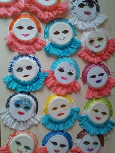 Vorschule Basteln – Rebel Without Applause Kids Crafts, Clown Crafts, Carnival Crafts, Carnival Masks, Preschool Crafts, Diy And Crafts, Craft Projects, Arts And Crafts, Paper Crafts