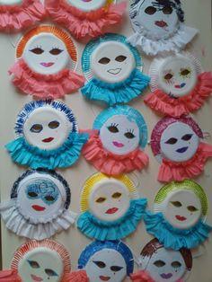 Vorschule Basteln – Rebel Without Applause Clown Crafts, Carnival Crafts, Frog Crafts, Carnival Masks, Preschool Crafts, Diy Crafts For Kids, Art For Kids, Arts And Crafts, Fairy Houses Kids