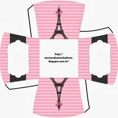 París: lindas Cajas para Imprimir Gratis.