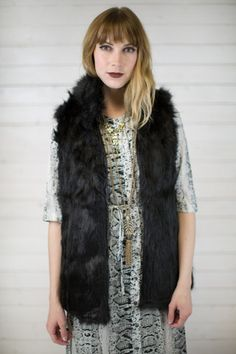 Ski Bunny Fur Vest #shopmaude www.shopmaude.com
